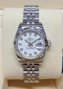 Rolex Datejust Lady 179174 26mm White Diamond Dial