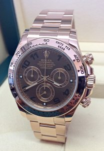 Rolex Daytona 116505 Rose Gold Chocolate Dial