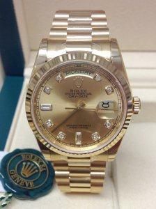 Rolex Day-Date 118238 Yellow Gold Diamond Dial