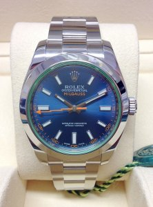 Rolex Milgauss 116400GV Blue Dial Green Glass