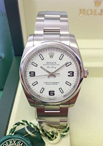 Rolex Air-King 114200 34mm White Dial