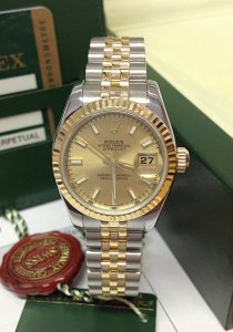 Rolex Datejust 26mm 179173 Champagne Baton