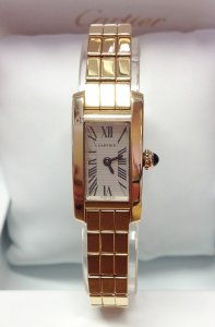 Cartier Tank Lanieres W15362X3 Yellow Gold