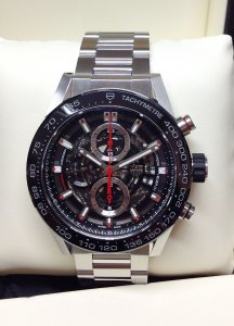 Tag Heuer Carrera CAR2A1W Black skeleton dial