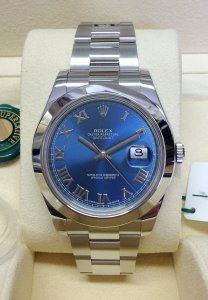 Rolex Datejust II 116300 41mm Blue Dial
