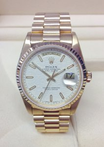Rolex Day-Date 18238 Yellow Gold Jubilee Dial