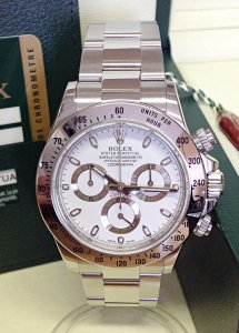 Rolex Daytona 116520 Stainless Steel White Dial
