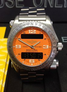 Breitling Emergency E56321 Orange Dial