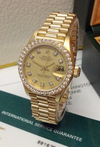 Rolex Datejust Lady 69138 26mm Diamond Bezel