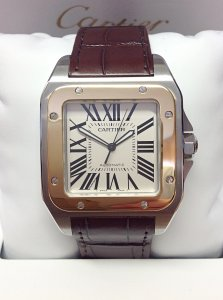 Cartier Santos 100 W20072X7 Bi/Colour Large Size Unworn