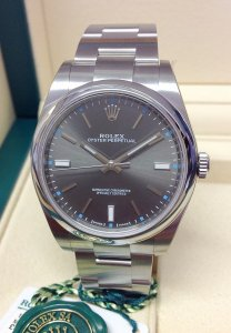 Rolex Oyster Perpetual 114300 39mm Rhodium Dial