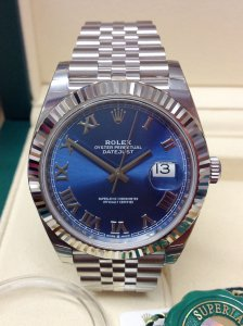 Rolex Datejust 41mm 126334 Blue Dial Unworn