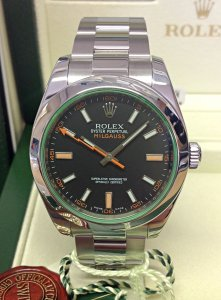 Rolex Milgauss 116400GV Black Dial Green Glass