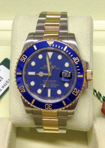 Rolex Submariner Date 116613LB Bi/Colour Blue