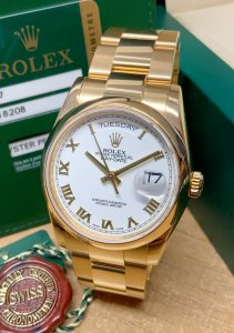Rolex Day-Date 118208 Yellow Gold