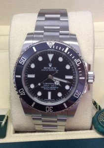 Rolex Submariner 114060 Non-Date Black Ceramic
