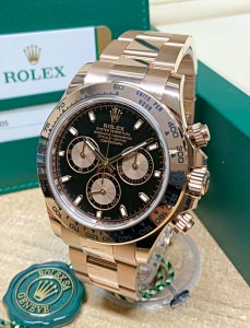 Rolex Daytona Rose Gold 116505 Black Dial Unworn