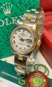 Rolex Datejust Lady 79173 26mm White Roman Dial