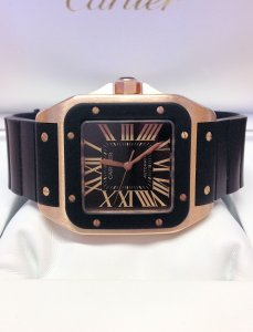 Cartier Santos 100 W20124U2 Rose Gold