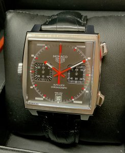 Tag Heuer Monaco CAW211B 39mm Grey Dial