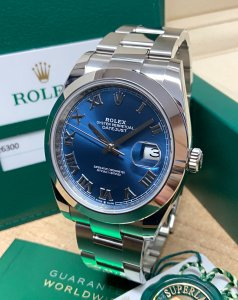 Rolex Datejust 41 126300 Blue Roman