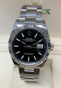 Rolex Datejust 36mm 126234 Black Baton