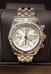 Breitling Chrono Cockpit A1335853 Diamond Bezel