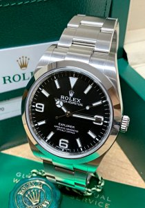 Rolex Explorer I 39mm 214270 Black Dial