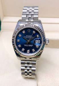 Rolex Datejust Lady 179174 26mm Blue Diamond Dial