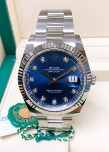 Rolex Datejust 41mm 126334 Blue Diamond Unworn