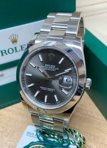 Rolex Datejust 41 126300 Rhodium Dial