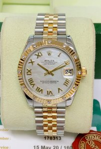 Rolex Datejust Lady 178313 31mm Diamond Bezel