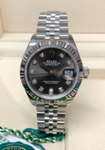 Rolex Datejust 28mm 279174 Dark Grey Diamond
