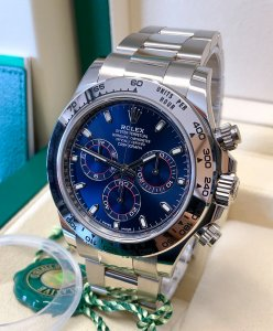 Rolex Daytona 116509 White Gold Blue Dial