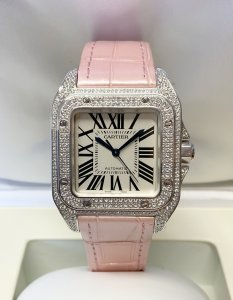 Cartier Santos 100 Medium WM501751 White Gold