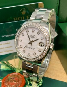 Rolex Datejust 31mm 178384 Diamond Bezel