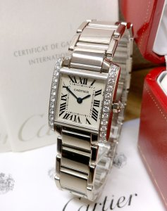Cartier Tank Francaise WE1002S3 White Gold
