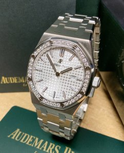 Audemars Piguet Royal Oak Quartz 33mm Diamond Bezel