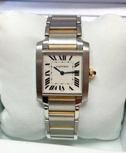 Cartier Tank Francaise W2TA0003 Bi/Colour Medium Size