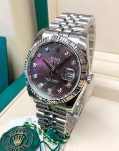 Rolex Datejust 116234 36mm Black M.O.P Diamond