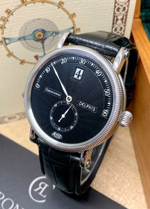 Chronoswiss Delphis CH1423 Black Dial 38mm