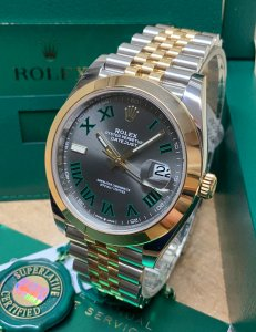 Rolex Datejust 41mm 126303 Bi/Colour Wimbledon Dial
