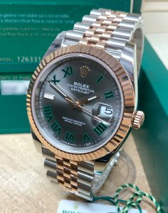 Rolex Datejust 41 126331 Bi/Colour Wimbledon Dial