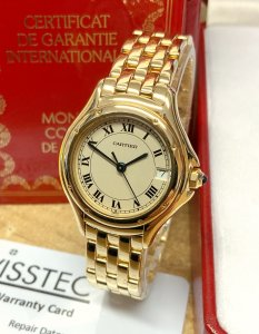 Cartier Cougar 887906 26mm Yellow Gold