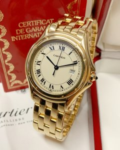 Cartier Cougar 33mm 887904 Yellow Gold