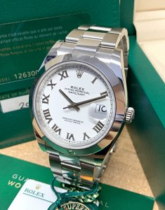 Rolex Datejust 41 126300 White Roman