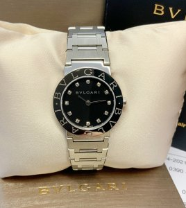 Bulgari Bvlgari 26mm BB26SS Black Diamond Dial
