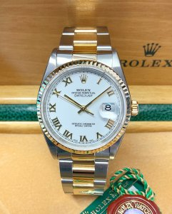 Rolex Datejust 16233 36mm Bi/Colour White Roman