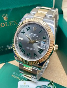 Rolex Datejust 41 126333 Bi/Colour Wimbledon Dial