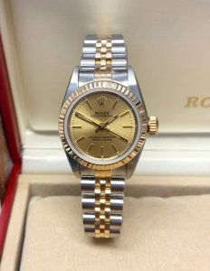 Rolex Oyster Perpetual 24mm 67193 Bi/Colour